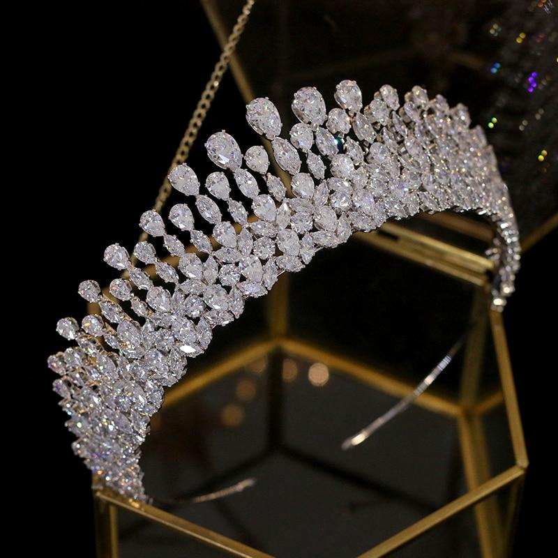 New drop Tiara crystal headdress wedding hair accessories crown jewelry headband wedding accessories