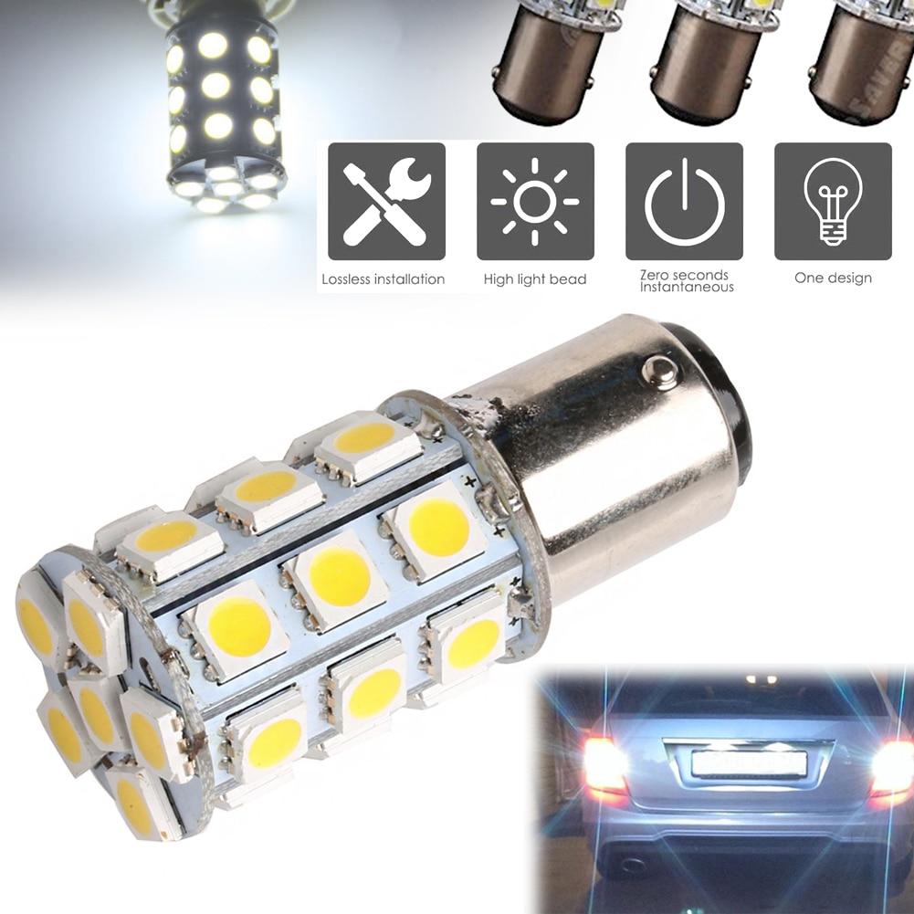 Светодиодные лампочки для салона лодки, для автомобиля, 27-SMD, BA15D, 1004, 1076, 1142