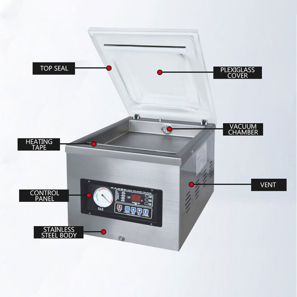 Commercial Wet and Dry Food Packaging Machine Desktop Vacuum Sealer Packaging Machine envasadora al vacio de alimentos