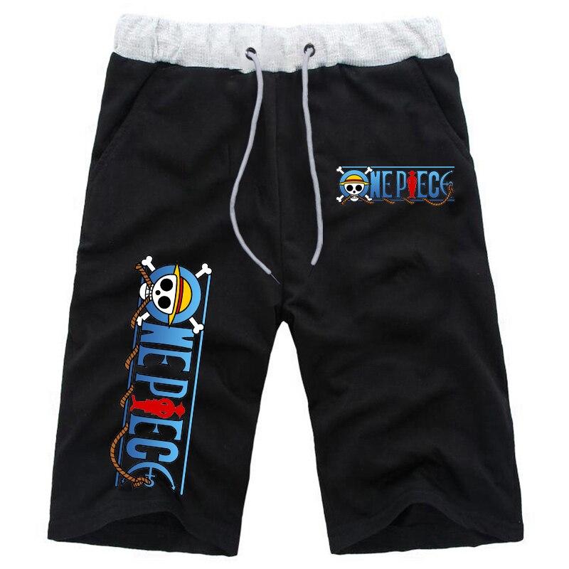 Цельнокроеные шорты, мужские Модные брендовые бордшорты, дышащие мужские повседневные шорты Luffy, хлопковые удобные мужские шорты для фитне...