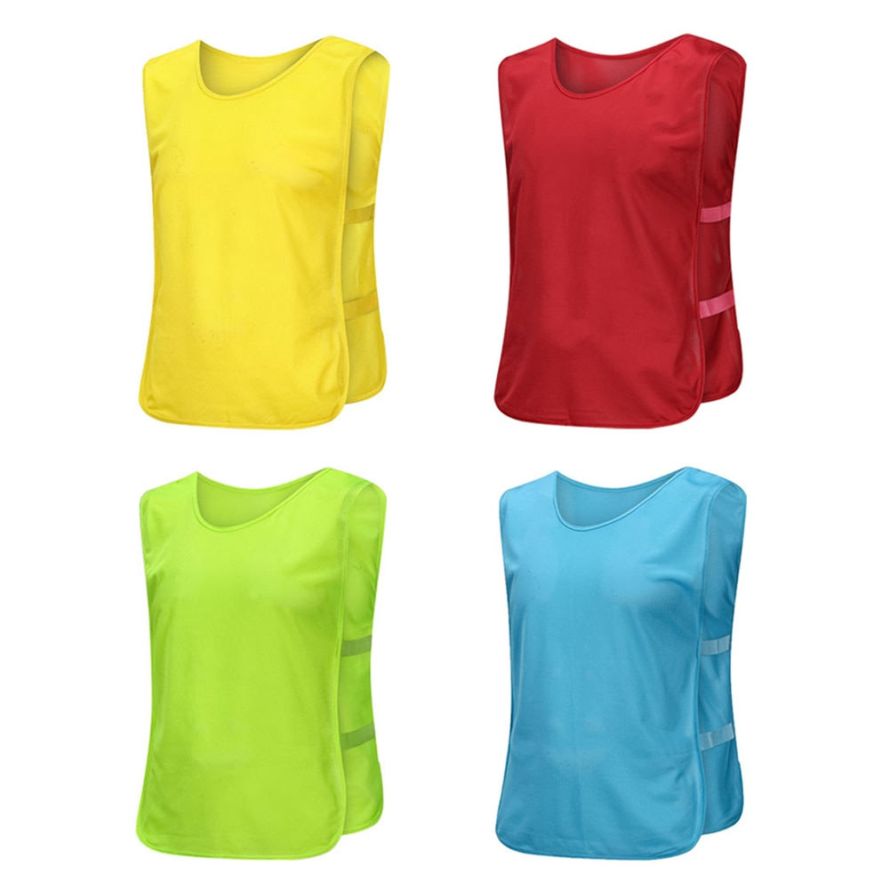 Adults Soccer Pinnies Football Team Jerseys Youth Sports Scrimmage Soccer Team Training Numbered Bibs Practice Sports Vest