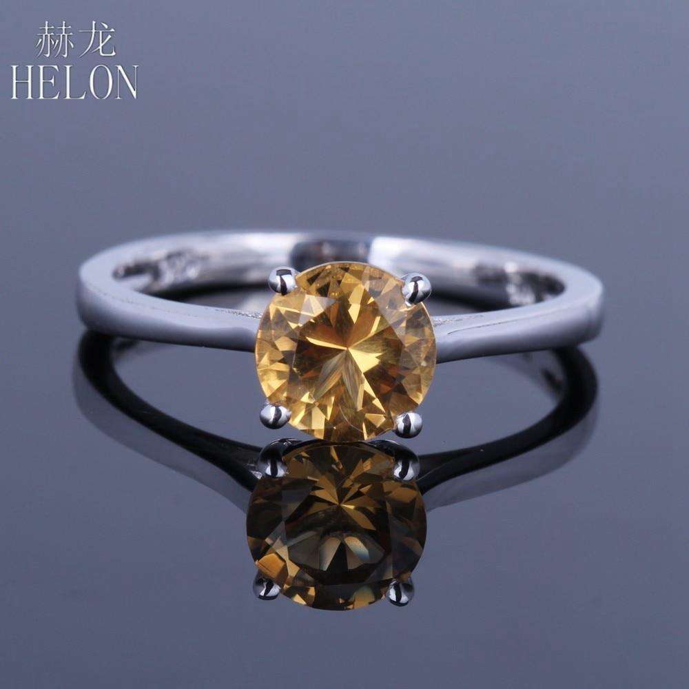 HELON-خاتم من الفضة الإسترليني والسترين للنساء ، خاتم ، 6.5 فضة استرلينية ، حجر طبيعي ، دائري ، 100% مللي متر ، مجوهرات راقية ، خطوبة ، 925