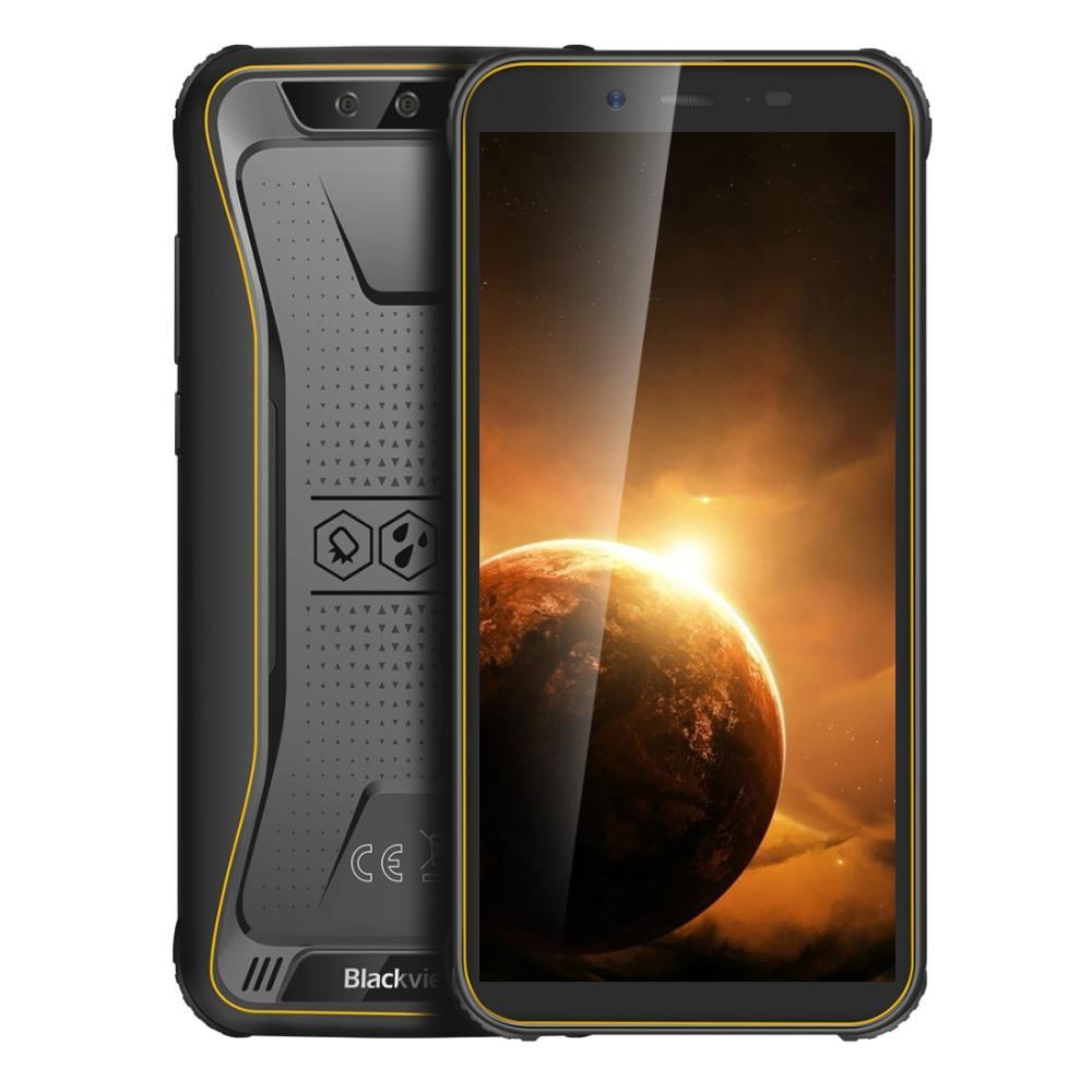 Перейти на Алиэкспресс и купить Blackview BV5500 плюс IP68 прочный Водонепроницаемый смартфон 3 ГБ + 32 ГБ 5,5 дюйм18:9 Экран 4400 мА/ч, MT6739 Android 10 NFC 4G мобильный телефон