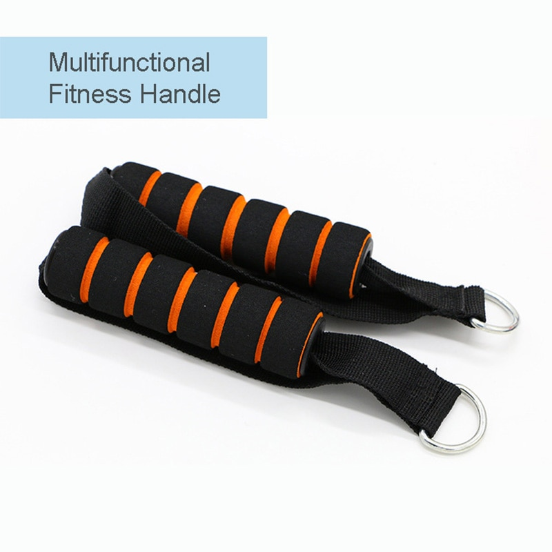 Multi-purpose d-ring mola puxar corda barra de cabo corda elástica espuma alça equipamentos de fitness resistência banda acessórios treino