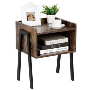 New Industrial Vintage Bedside Table Cabinet Bedroom Locker Black Retro Bedroom Nightstands Versatile Modern Locker Furniture