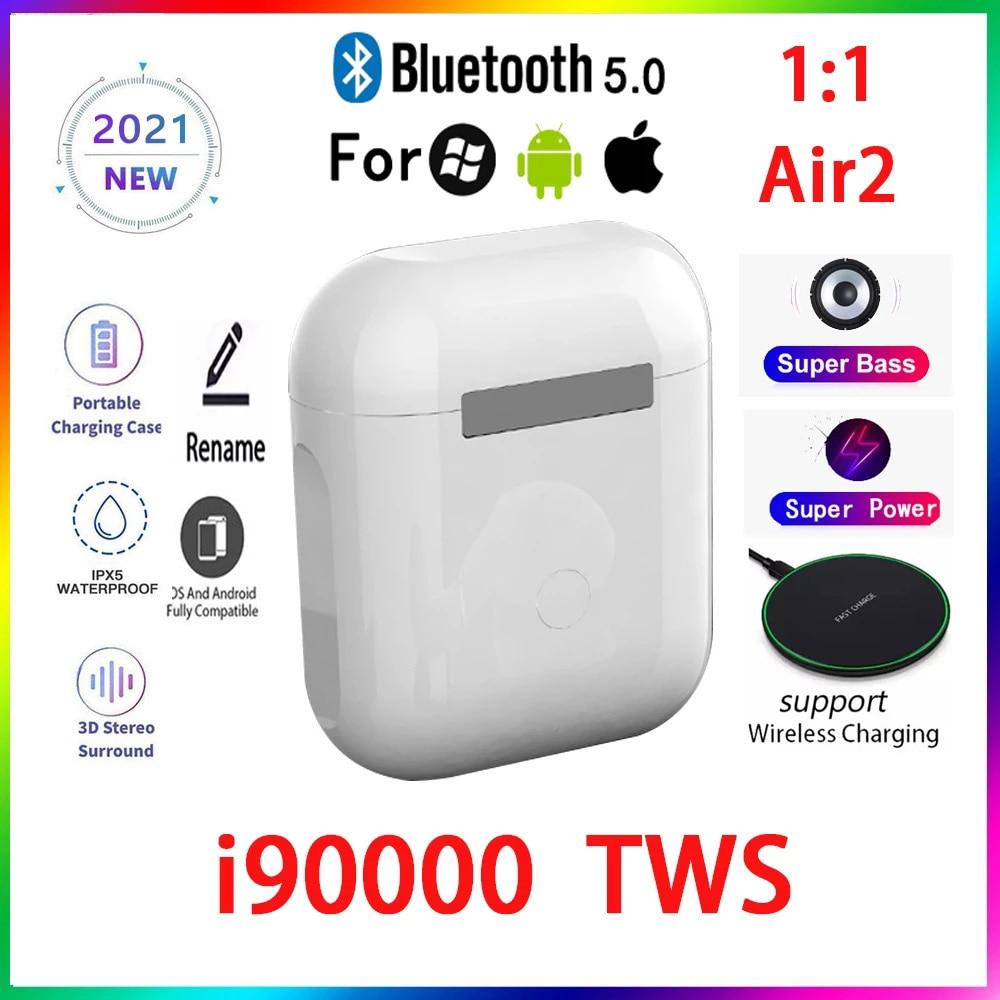 Original i90000 TWS 1:1 GPS nombre auriculares Bluetooth inalámbricos PK i7 i11...