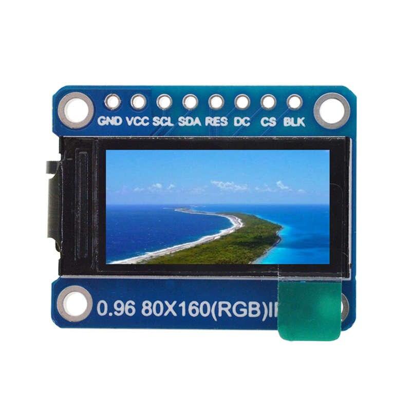Ips 0.96 Polegada 8 pinos spi hd 65k cor cheia tft módulo st7735 drive ic 80x160 display lcd 3.3v spi interface para arduino diy