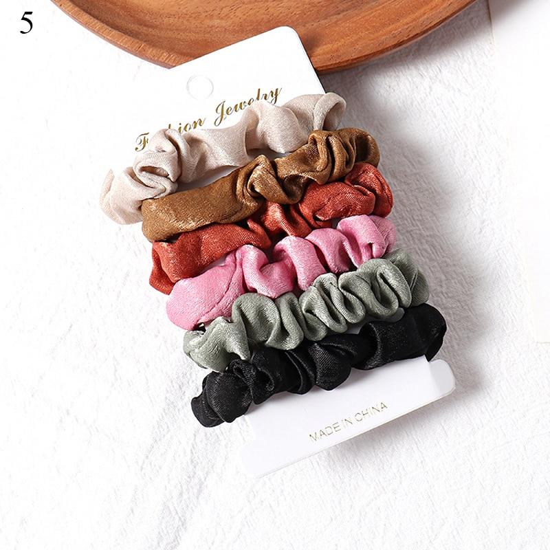 1 комплект scrunchies пръстен за коса цвят - Аксесоари за облекла - Снимка 2