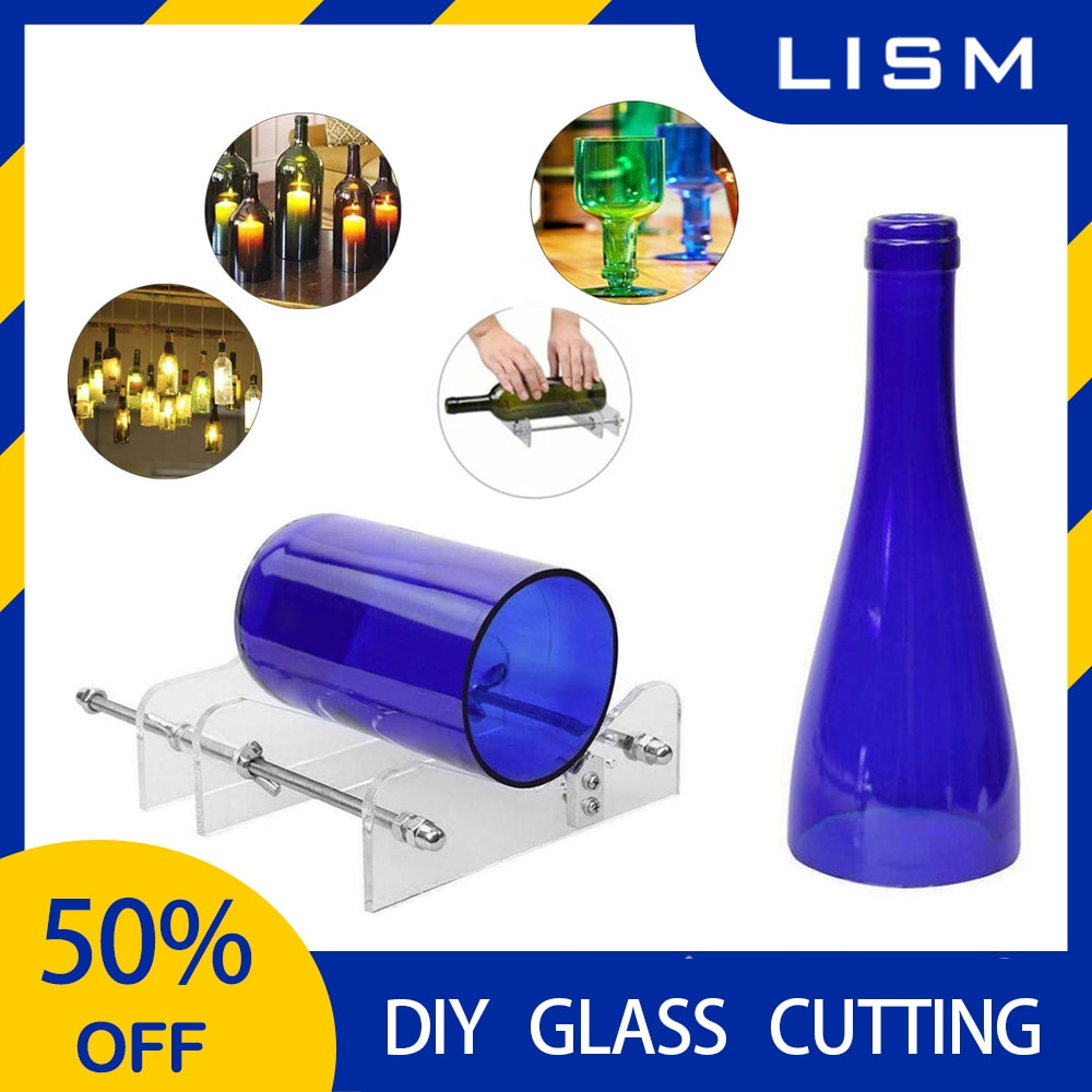 Acrylic Glass Diy Cutter Tool Professional For Bottle Rolling Cutting Glass Bottle-cutter Tools Machine Wine Beer W/ Screwdriver