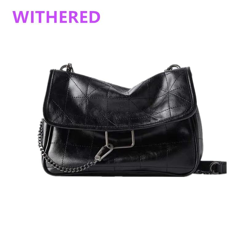 Withered-حقيبة يد نسائية ، جلد ، نمط عتيق ، أزياء غير رسمية ، فأرة كرتونية ، خيط خياطة لطيف ، سلسلة حديدية ، PU wint ، بطانة حقائب نسائية