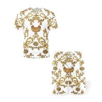 mens sets t shirtshorts 2 packs retro ethnic style 3d print cool design o neck summer clothes tees oversized t shirts for men