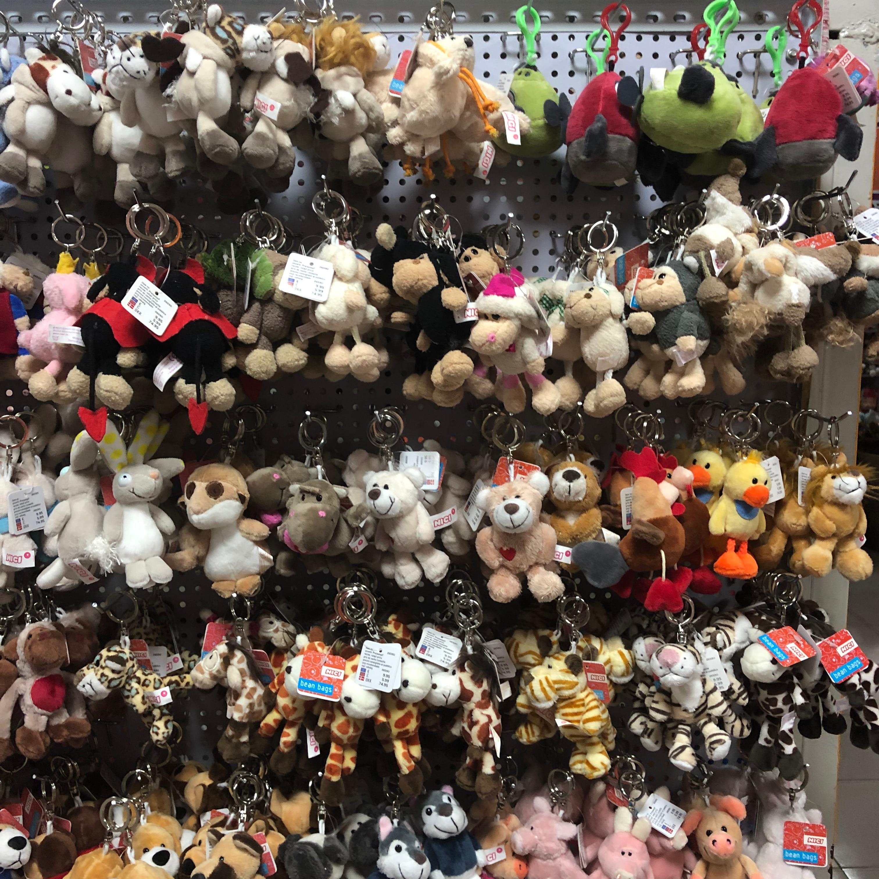 Bonito dos desenhos animados raposa animal brinquedo de pelúcia chaveiro mochila saco chaveiro pequeno presente casal shiba inu bulldog gato pinguim
