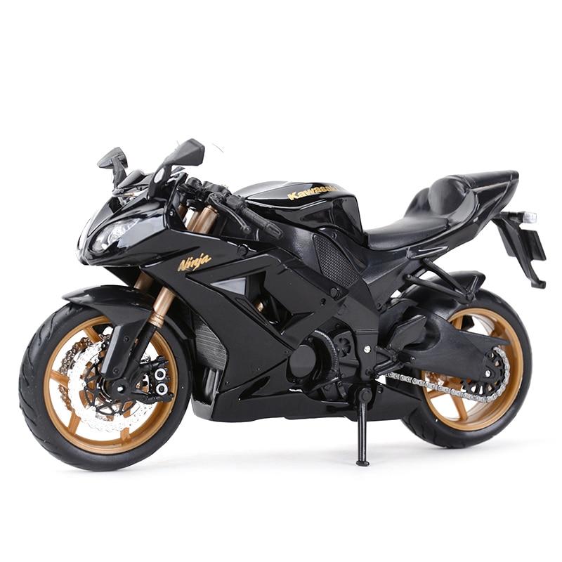 Maisto 1:12 Kawasaki Ninja ZX-10R Black Die Cast Vehicles Collectible Hobbies Motorcycle Model Toys