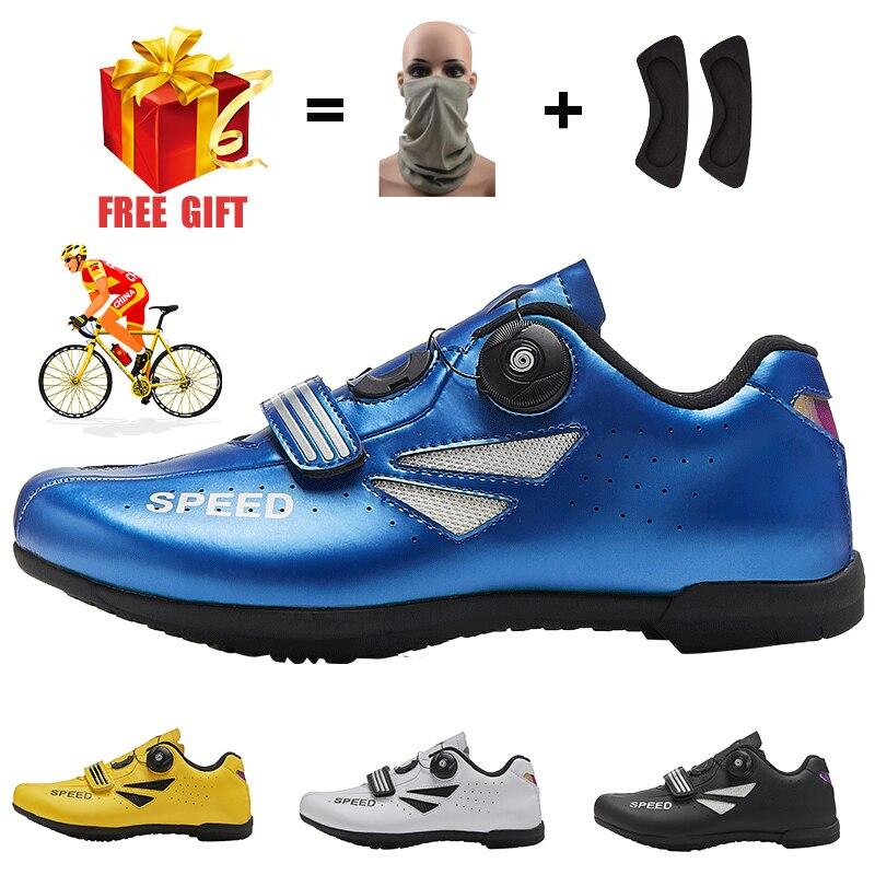 Enduro profesional para hombre y mujer, zapatillas de ciclismo ultralivianas, antideslizantes SPD,...
