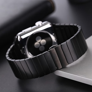 Stainless Steel strap for Apple Watch band 44mm 40mm iWatch band 42mm 38mm Butterfly buckle Metal Bracelet Apple watch 6 se 5 4