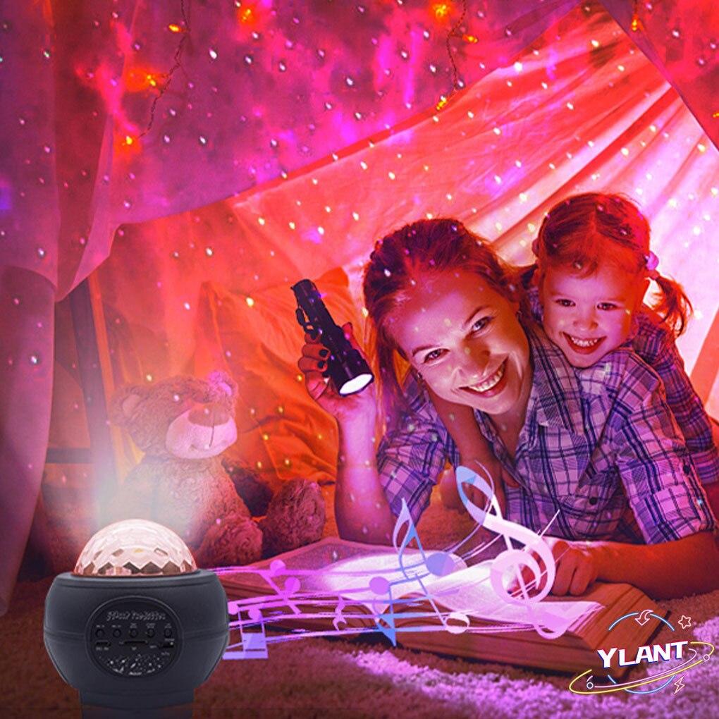 Projector Rotating Ocean Wave Night Lights Bluetooth Music USB Nebula Lamp Starry Sky Galaxy Light Decor Colorful LED Star Light enlarge