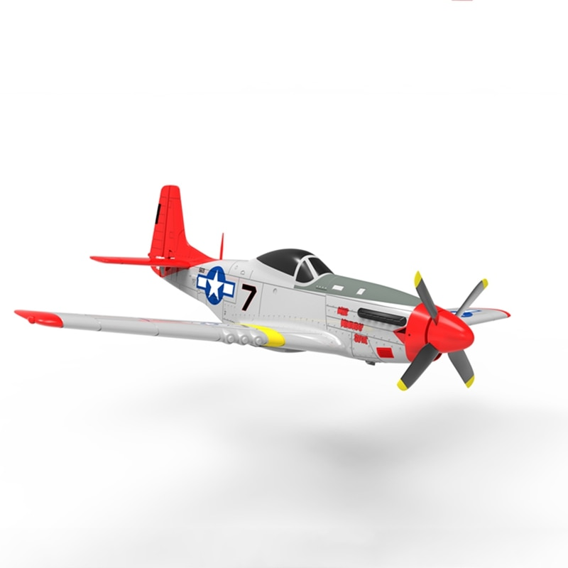 Volantex RC 768-1 Mus&tang P51D 2.4Ghz 6CH 750mm 29.5 In Red Wingspan EPO Warbird RC Airplane RTF &