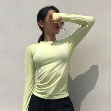 New Women Yoga Shirts Running Sport T-Shirts Thumb Hole Seamless Long Sleeve Slim Gym Tops Workout Fitness Sportswear Streetwear