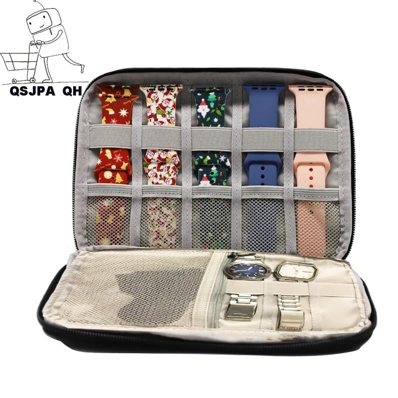 For apple Watch Travel Pouch box correas apple watch Multifunction Portable Watch Strap Organizer Wa