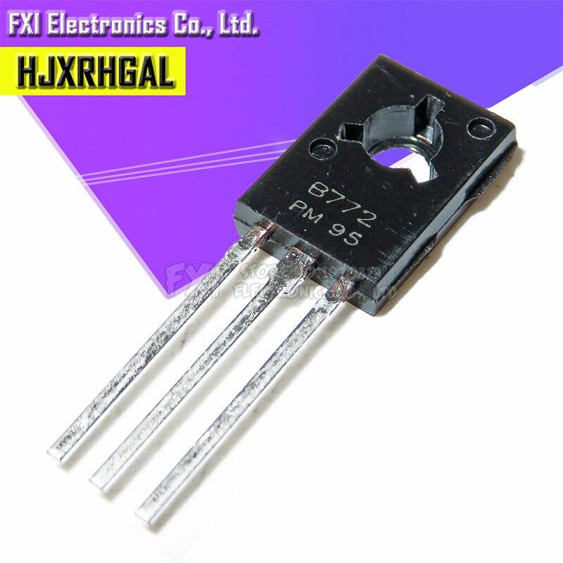 20 peças b772 2sb772 to126 3a/40 v pnp para-126 baixos transistores novo original