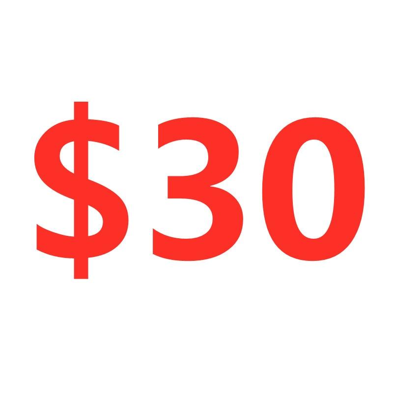 30 دولار أمريكي رسوم إضافية
