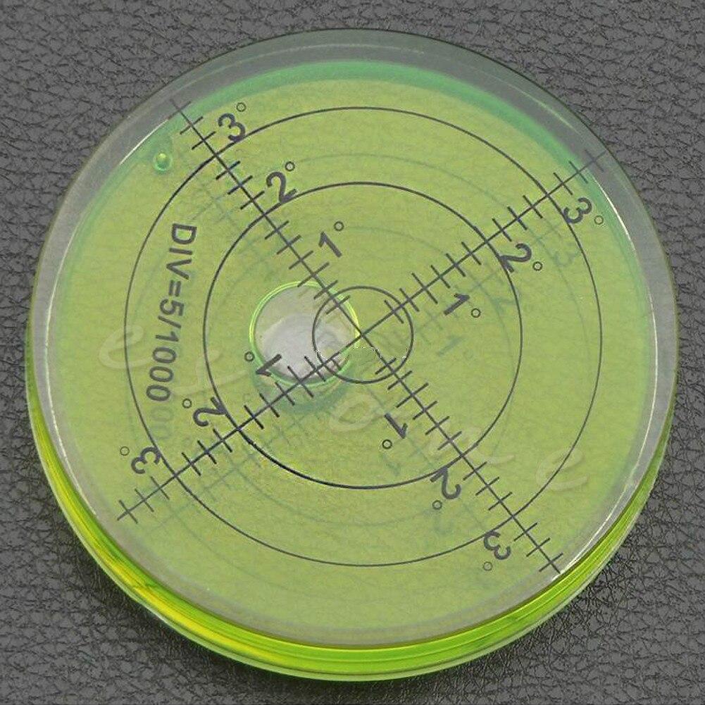 60mm * 12mm PMMA Spirit Bubble grado marca nivel de superficie redondo para herramienta de medición