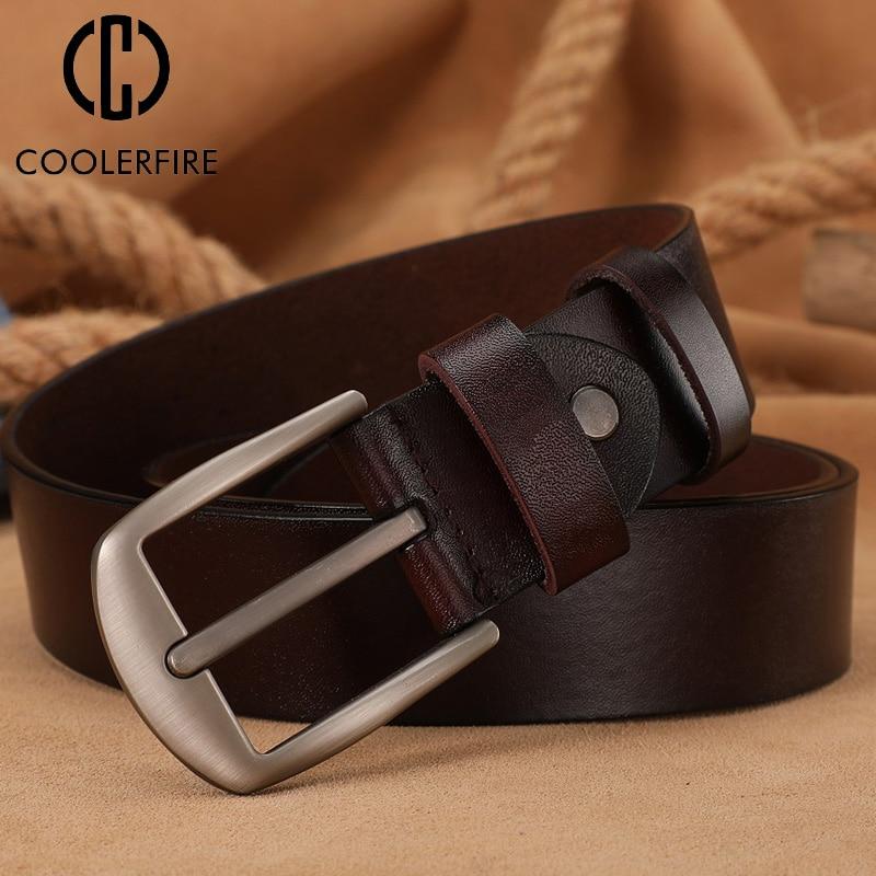 Homme Leather Belts Waist or Jeans Luxury Brand Design Pin Buckle Cummerbunds Designer Male High Qua