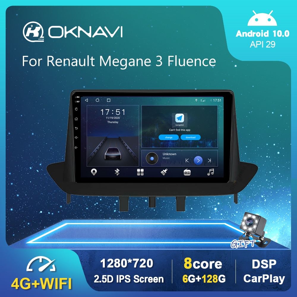 Фото - Android 10.0 GPS Car Radio For Renault Megane 3 Fluence 2008-2014 Multimedia Player DSP Carplay 6G 128G Stereo No 2 din DVD 9 6g 128g android 10 0 smart car radio video player for nissan nv200 2011 2016 4g auto bt multimedia gps stereo dsp carplay no dvd