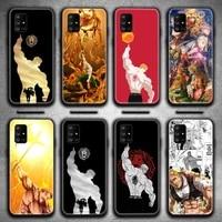 escanor seven deadly sins phone case for samsung galaxy a21s a01 a11 a31 a81 a10 a20e a30 a40 a50 a70 a80 a71 a51