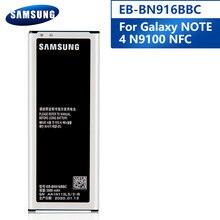 Samsung Original EB-BN916BBC/BE batterie pour Samsung GALAXY NOTE4 N9100 N9108V N9109V NOTE 4 remplacement téléphone batterie 3000mAh