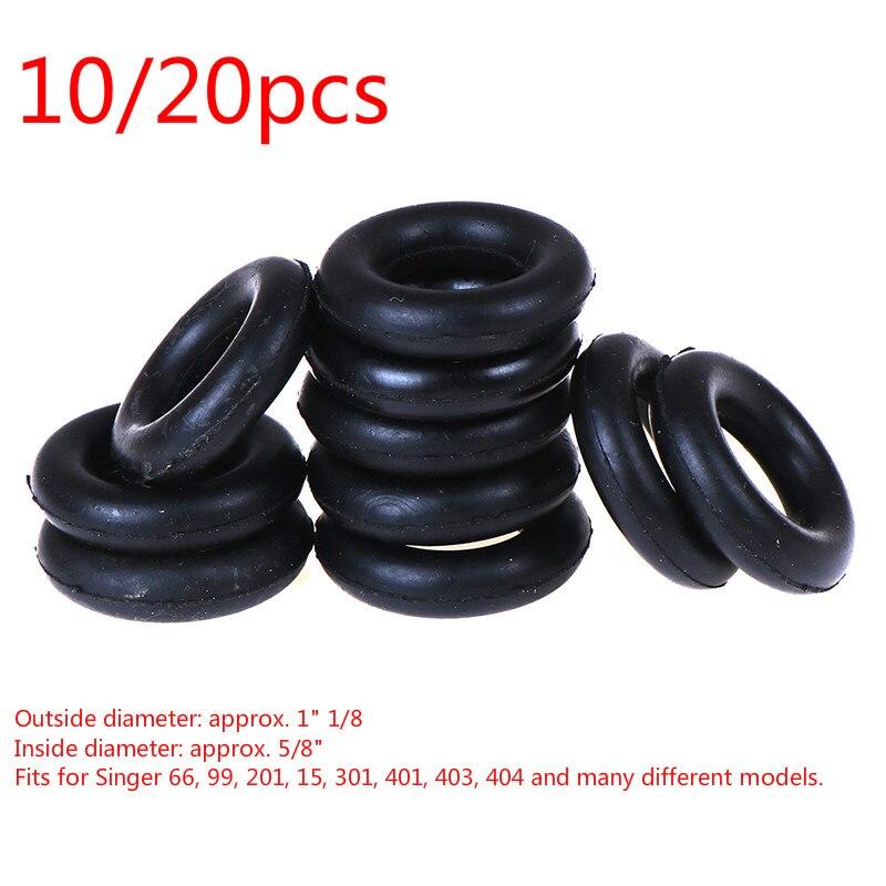Carrete de bobina de 10/20 piezas, rueda de fricción para máquina de coser, accesorios de costura alrededor de la bobina, anillo redondo de goma