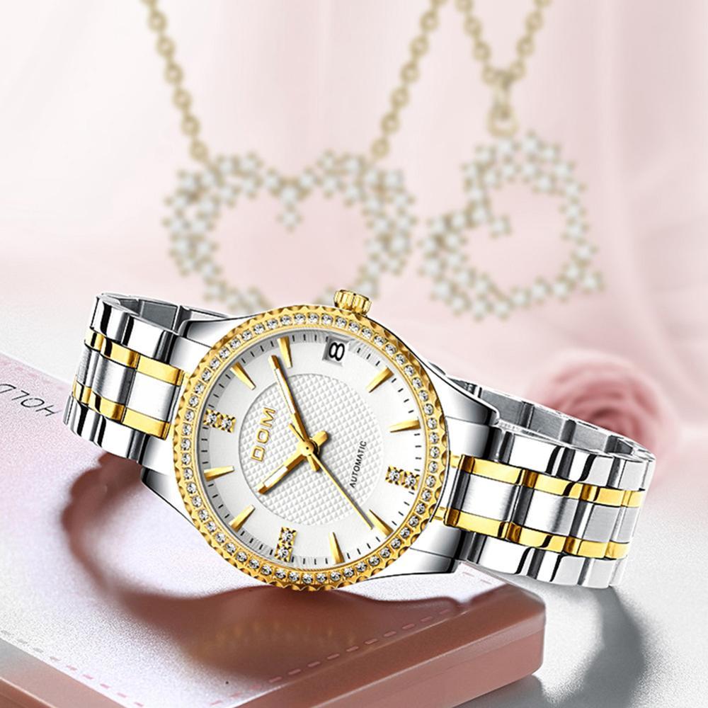 DOM automatic mechanical watch female watch sports men's watch waterproof stainless steel luminous fashion couple watch business enlarge