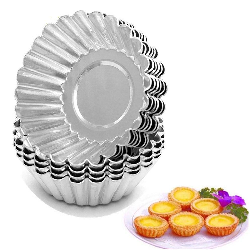 Utensilios de cocina, molde para tartaleta de huevo, Accesorios de aluminio reutilizables...