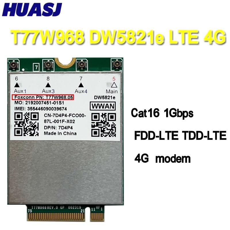 HUASJ T77W968 For Dell DW5821e LTE Cat16 GNSS 5G WWAN بطاقة وحدة ل Lattitude 5420 5424 7424 وعرة خط العرض 7400 / 7400 2-in