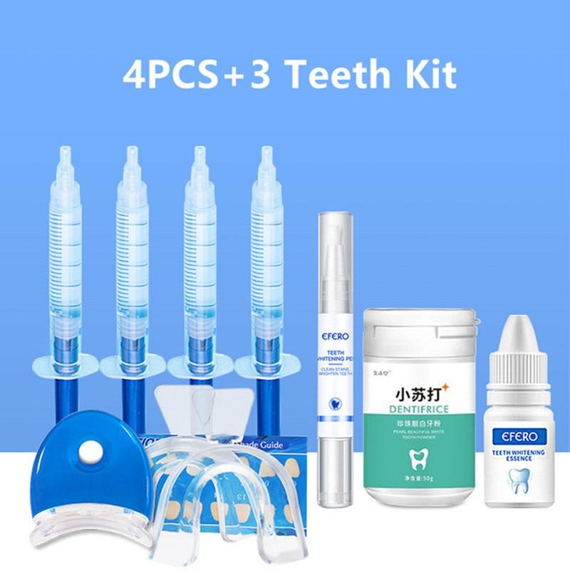 Teeth Whitening Gel Oral Care Brightening Dental Equipment Dental Peroxide Teeth Whitening Pen Essence Powder Kit