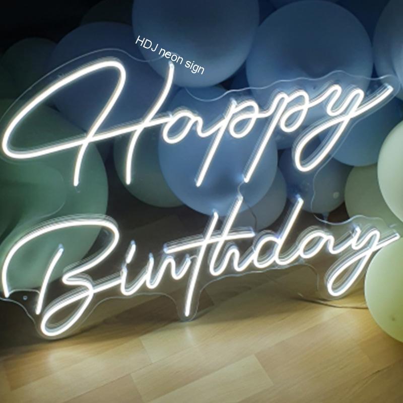 مصباح نيون LED مخصص مع علامة عيد ميلاد ، إضاءة جدارية للحفلات ، حرف ، تصميم ، شريط إضاءة منزلي ، علامات شخصية