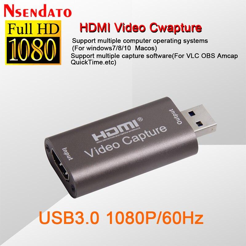 4k usb3.0 usb2.0 áudio placa de captura de vídeo hdmi para usb 3.0 2.0 cartão de aquisição ao vivo streaming placa interruptor da câmera jogo gravação