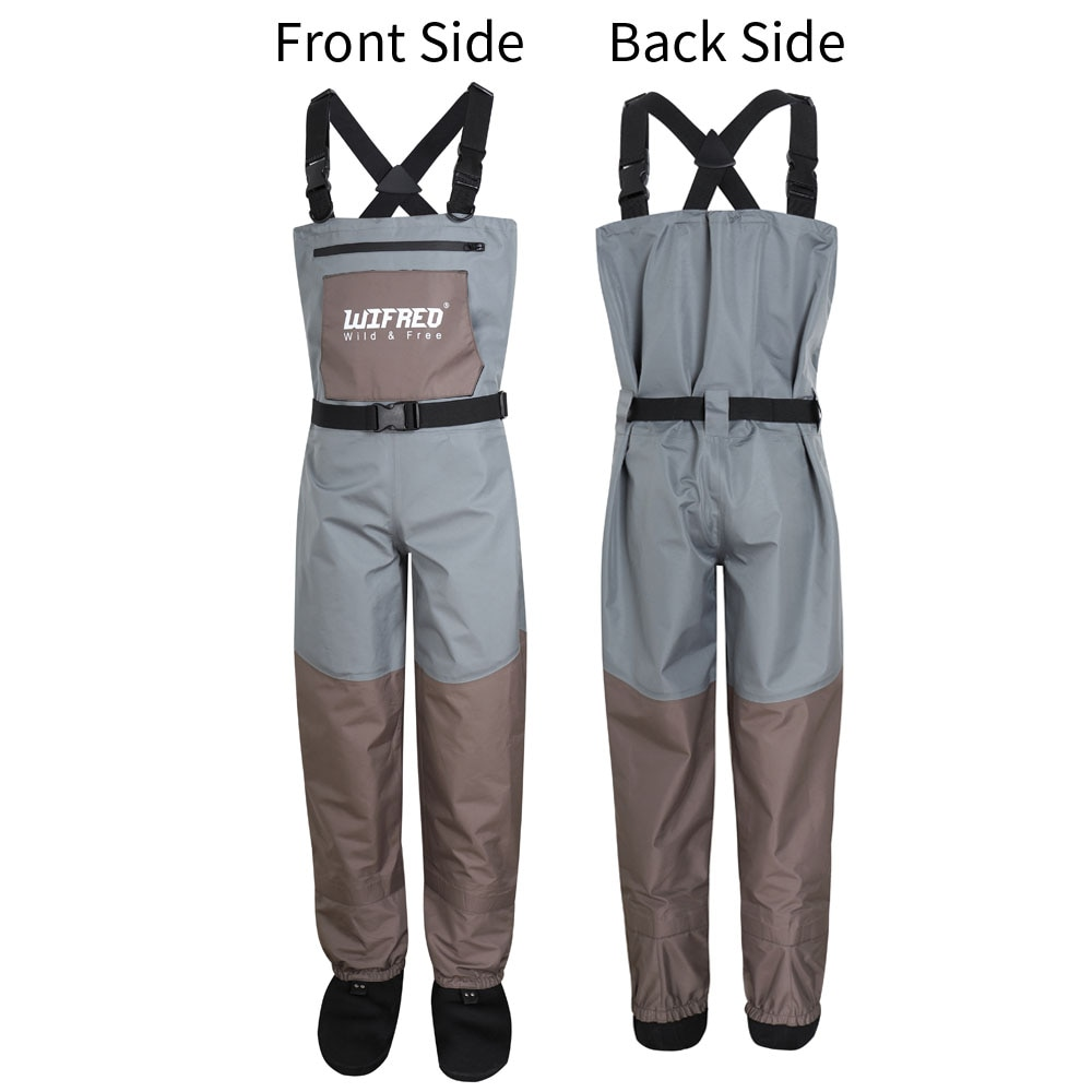 1PCS Fly Fishing Chest Waders Hunting Overall Pants 3Ply Breathable Waterproof Coated Wading Pants For Men and Women Size S ~XXL enlarge