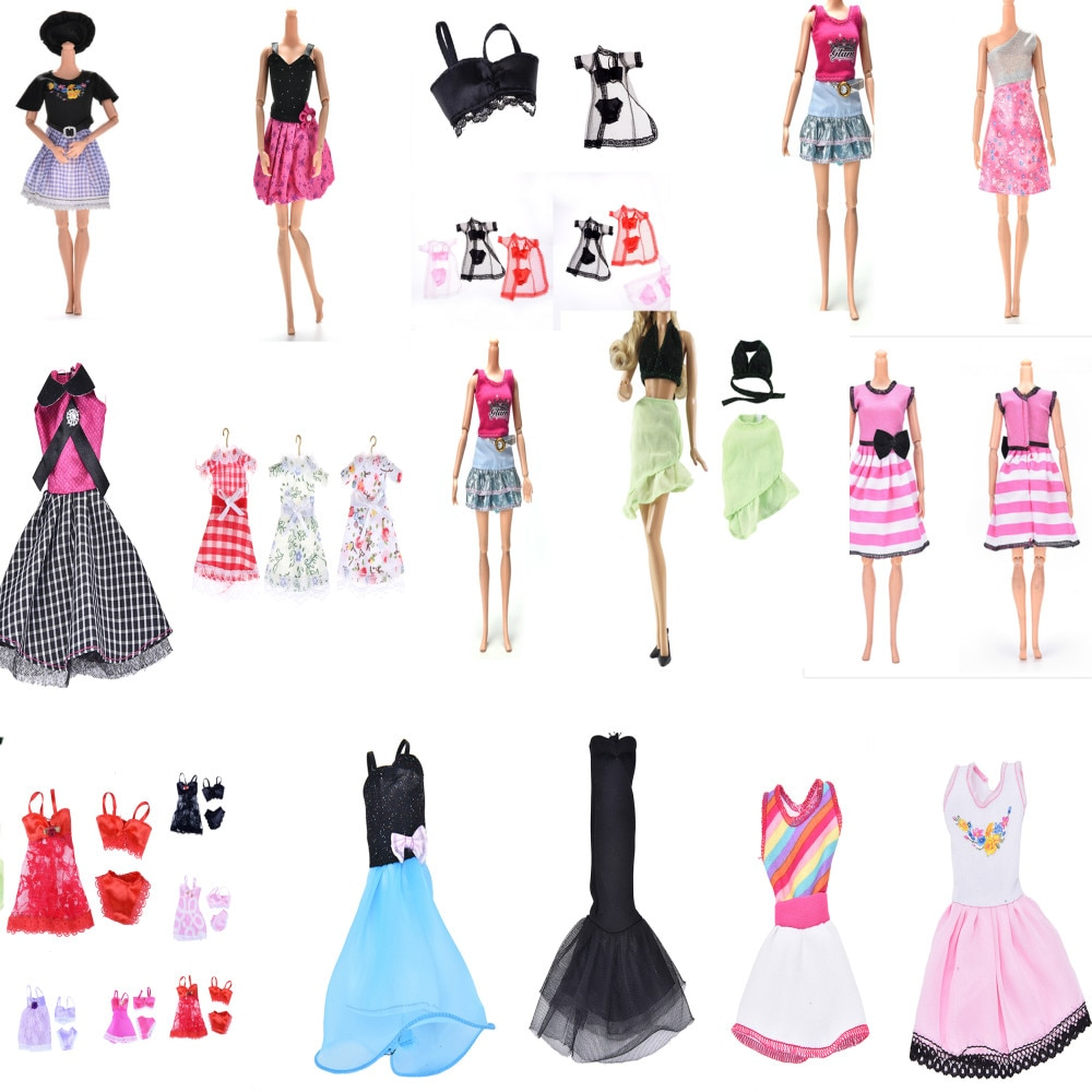 Ropa de muñeca a la moda, vestido de diario, falda, vestido de...