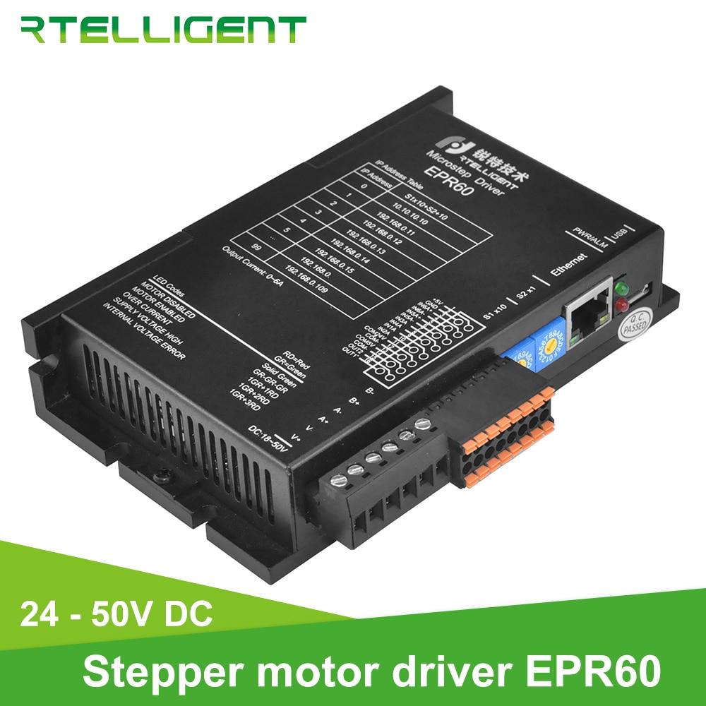 Rtelligent-برنامج تشغيل محرك متدرج Nema 23 24 ، إيثرنت ، سلسلة فيلدبوس EP ، اعتماد بروتوكول MODBUS/TCP ، متوافق مع 10 م/100 bps