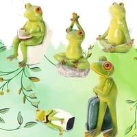 olivesh sculpture decoration accessories frog decoration travel frog yoga animal decoration bedroom home living room escultura