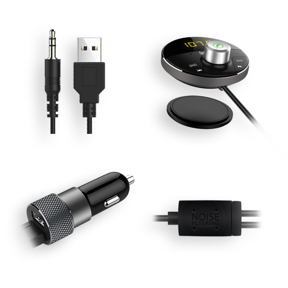 Купить с кэшбэком Deelife Bluetooth AUX Adapter in Car Handsfree Kit BT 5.0 Audio Receiver for Auto Phone Hands Free Carkit FM Transmitter
