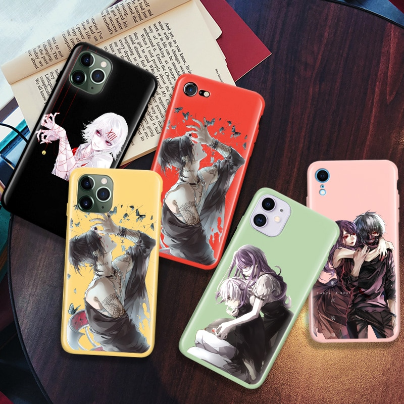 Multicolor caso suave para Apple iPhone 11 Pro XS Max XR X 7 7 6 6S Plus SE 2020 Fundas Capas Coque Anime Tokyo Ghoul