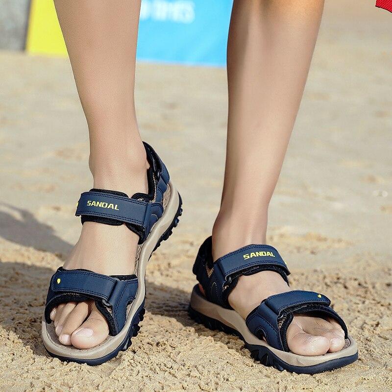 Masculina 44 cuero sandalia masculino vestido de couro zapatos para caminar plage...
