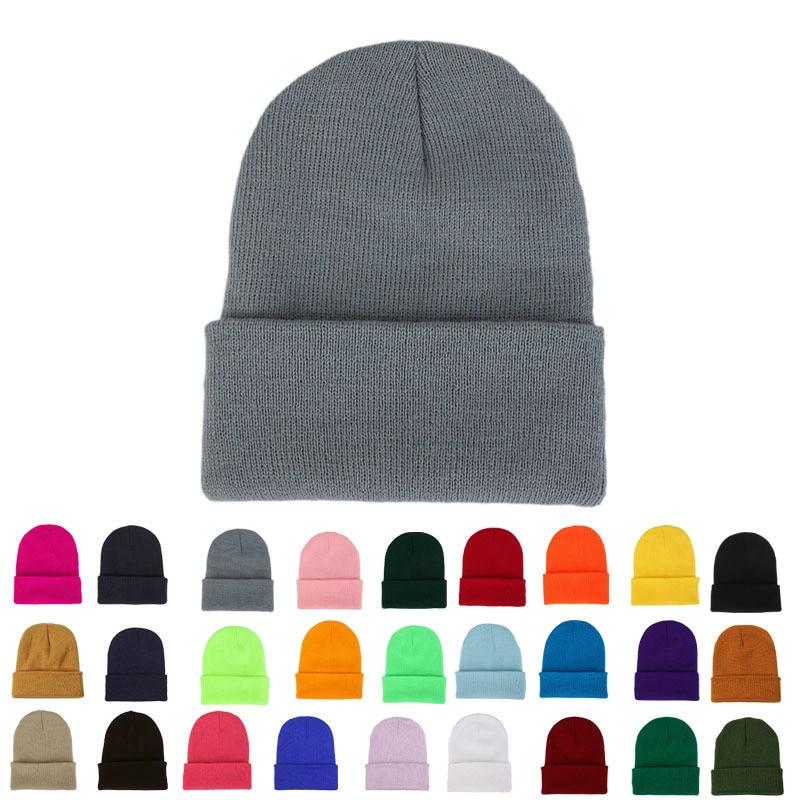 Женская зимняя трикотажная шапка-тюрбан, однотонная