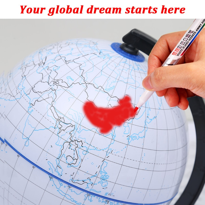 New Scrubable World Earth Globe Map Geography Educational Toy With Stand Home Office Ideal Miniature Gift Office Travel Marker marker шлем marker phoenix map