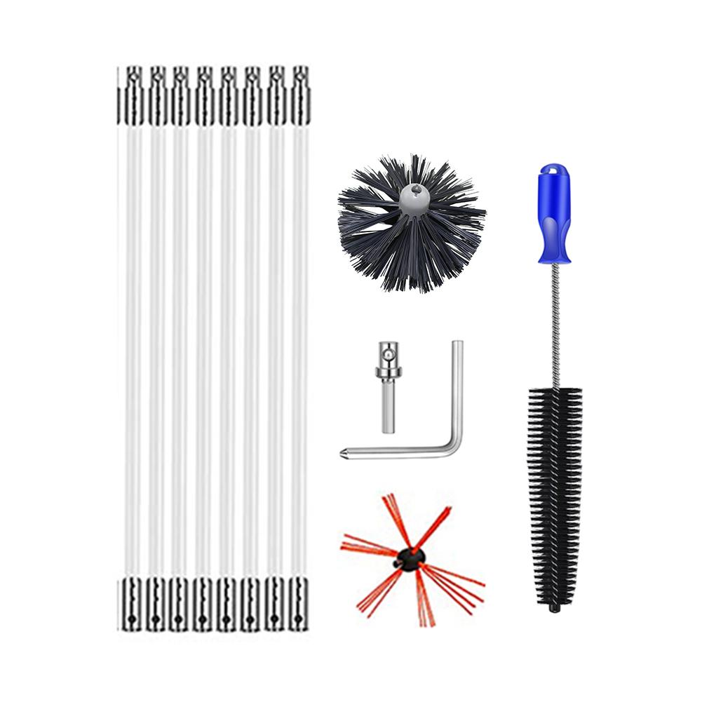 Chimney Cleaning Brush Chimney Brush Set Home Industrial Chimney Boiler Brush Dryer Cleaning Tools Fireplace Clean Chimney Kits