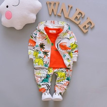 Autumn Children Boys Clothes Sets for Girl Baby Suit High Quality Cartoon Coat+ T shirt +Pants Set Kids Clothing Set 1-4Y 40