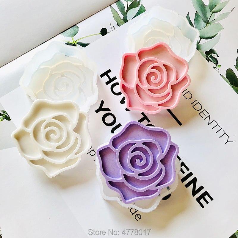 Ins heißer rose duftenden wachs blatt form formen für Aroma gips gips Nelke ton Epoxy harz blume silikon form diy