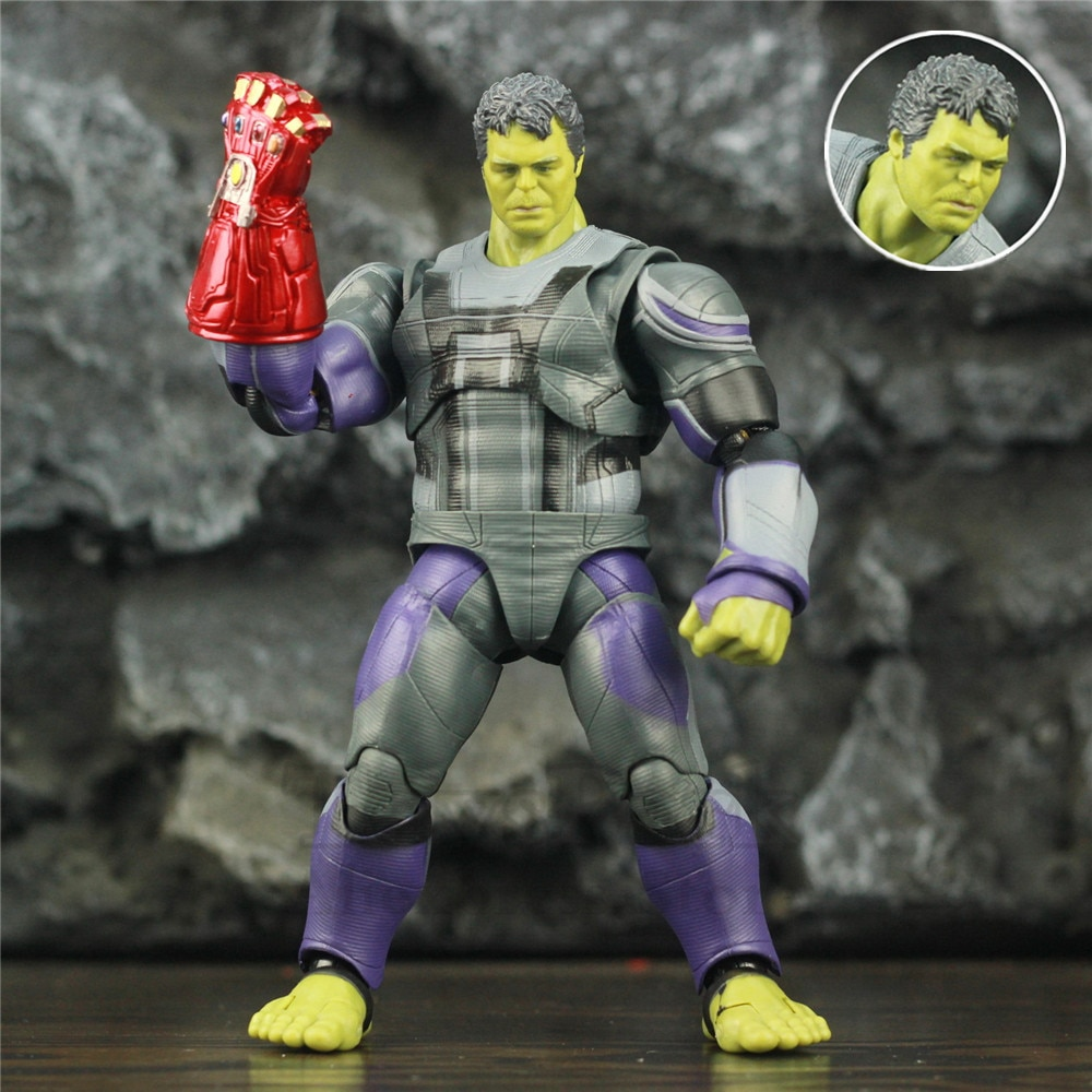 "Marvel Avengers 4 Endgame HULK Quantum Suit 6"" Scale Action Figure Robert Bruce Banner Red Gauntlet KO's SHF Legends Toys Doll"